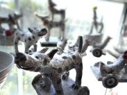 Demelza Whitely: raku animals