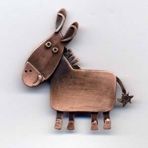 Donkey brooch CO