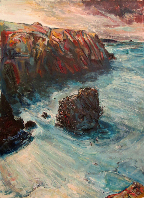 Gullyn Rock - Tony Minnion Acrylic & Charcoal on Paper - 78 x 56cm