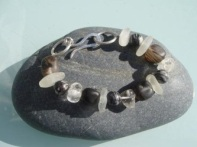 Silver Sea: Sea washed glass bracelet