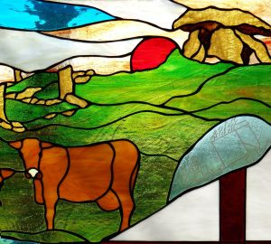 morvah cafe gallery crafts penzance stained glass, penwith